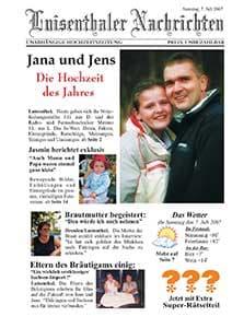 eine sehr schne und ausgefallenen hochzeitszeitung von jana und jens - Hochzeitszeitung Beispiele Pdf
