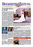 Beispiel einer Hochzeits-Zeitung