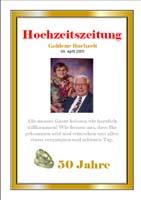 Eine sehr schoene und ausgefallenen Goldhochzeitszeitung von Adelheid und Helmut