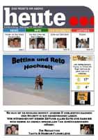 Eine sehr schoene und ausgefallenen Hochzeitszeitung von Bettina & Reto http://www.matalofy.ch/