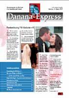 Eine sehr schoene und ausgefallenen Hochzeitszeitung von Anastasia & Daniel http://www.danana.ch/home.pdf