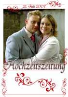 Eine sehr schoene und ausgefallenen Hochzeitszeitung von Nadine und Sven http://www.primus-welt.de